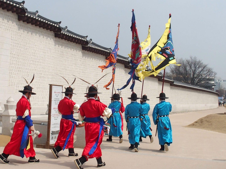 Départ gardes Palais royal Seoul Corée du sud