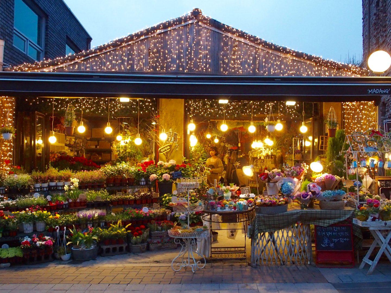 Fleuriste Insadong Seoul Corée du sud