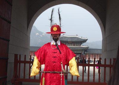 Garde au Palais Royal Séoul Corée du sud