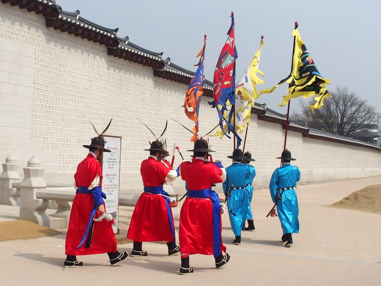 Gardes habits traditionnels Seoul Corée du sud
