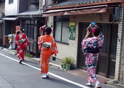 Japonaises en kimono Tokyo Japon