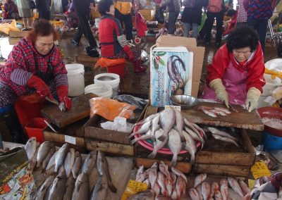 Marché aux poissons Busan Corée du sud