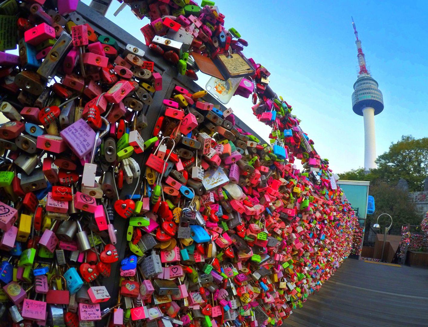 NTower cadenas d'amour Séoul Corée du sud