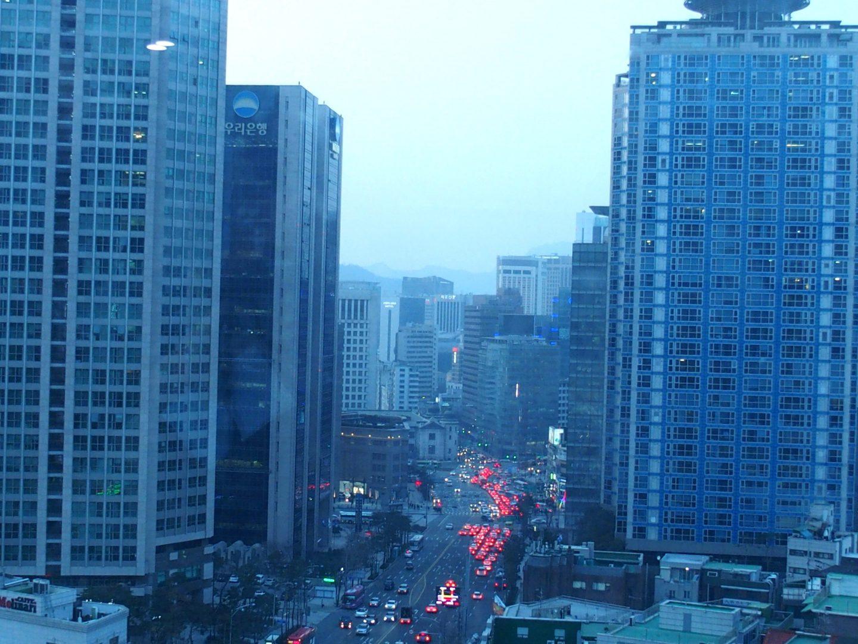 Seoul en soirée Corée du sud