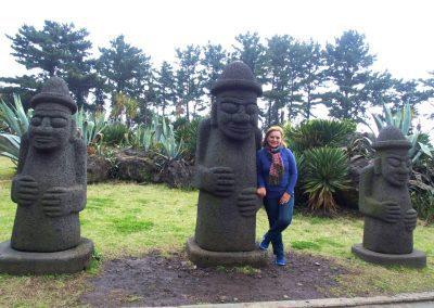 Statues Dolharubang Grands-pères Jeju Corée du sud
