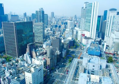 Vue sur les buildings d'Osaka Japon