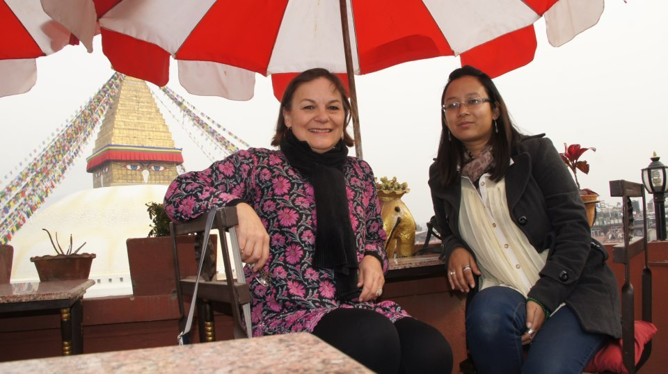Avec Karishma Kathmandou Népal