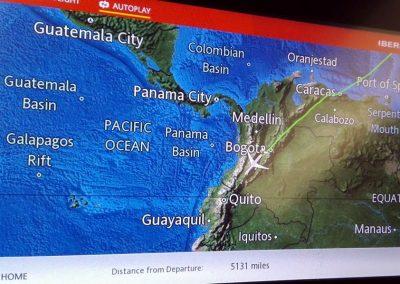 Arrivée de mon vol à Quito