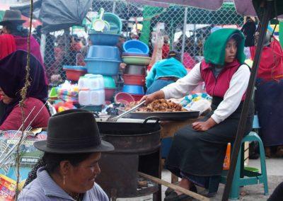 Cuisine sur le marché