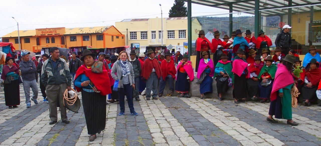 Jour de marché à Guamote