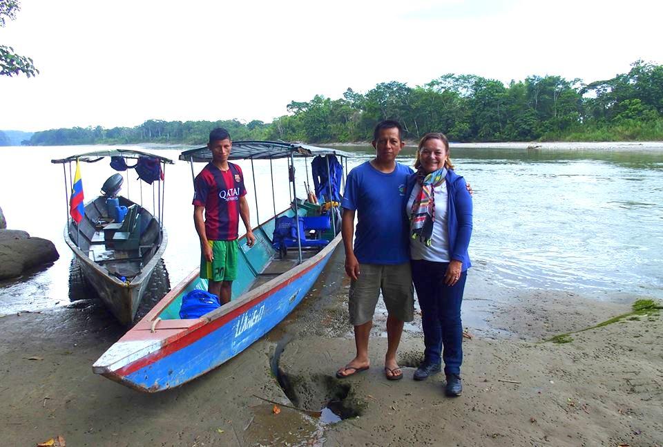 Départ du Sasha lodge avec Juan Amazonie Equateur