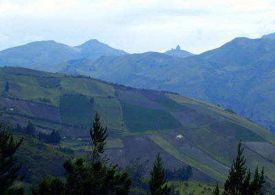 Mélange de cultures sur les flancs de montagne