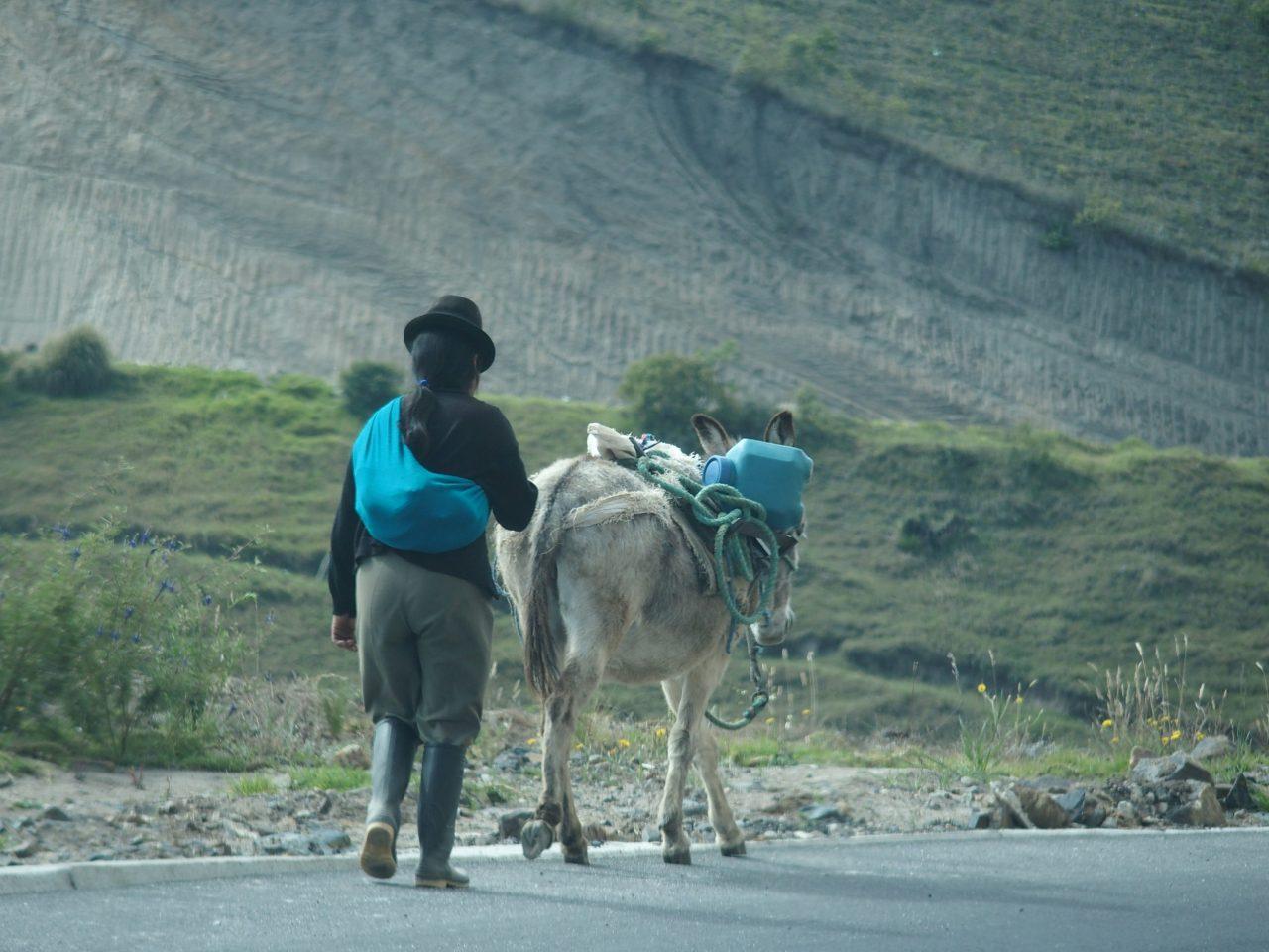 Sur la route du volcan Quilotoa