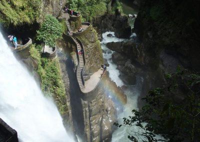 Cascades dans la région de Banos