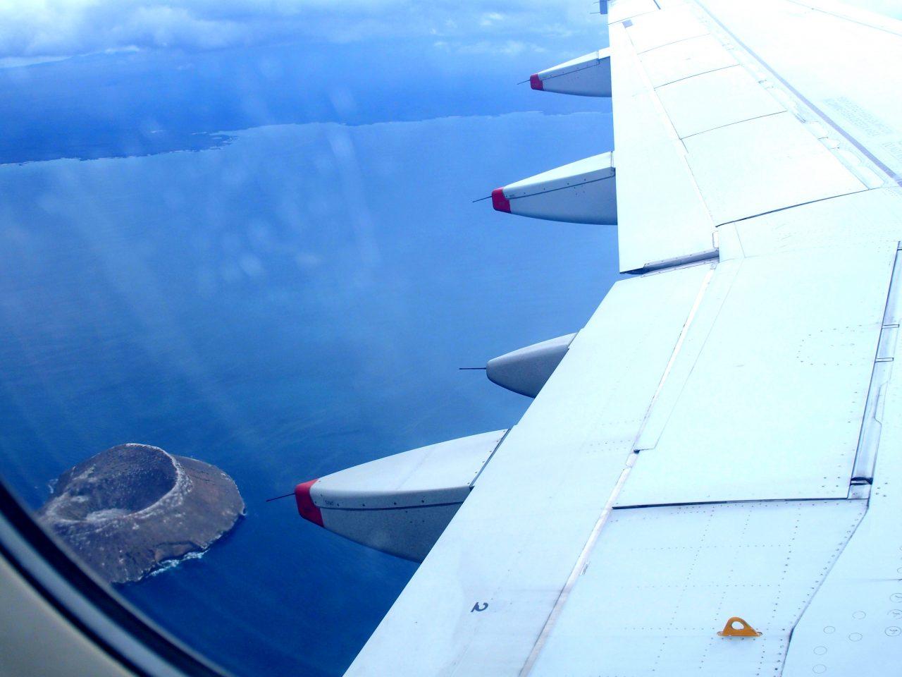 Survol des petites îles des Galapagos