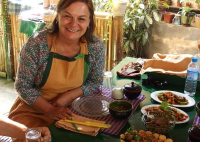 Cours de cuisine en Birmanie
