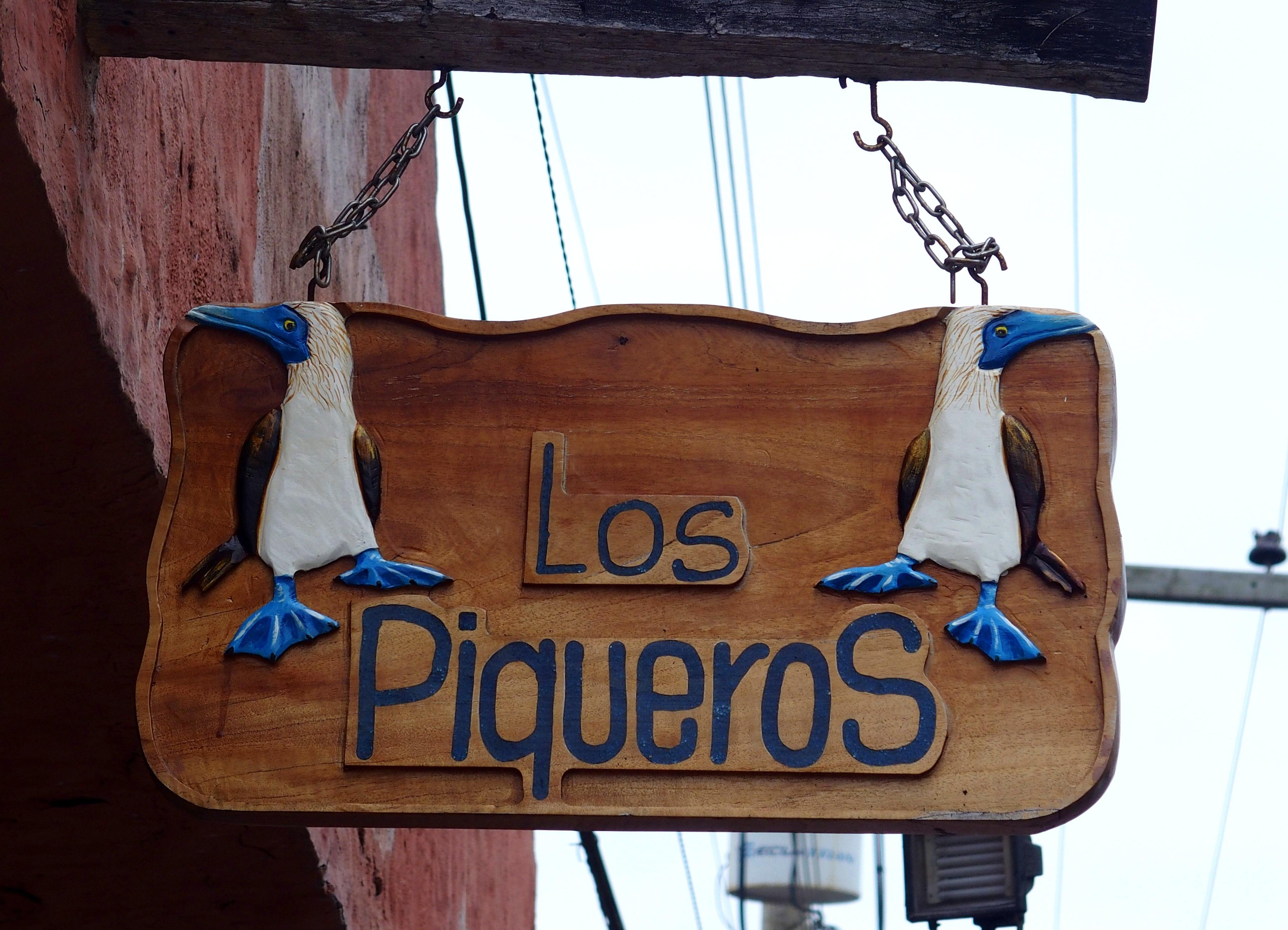 "Enseigne ""Los Piqueros"" - Galapagos"