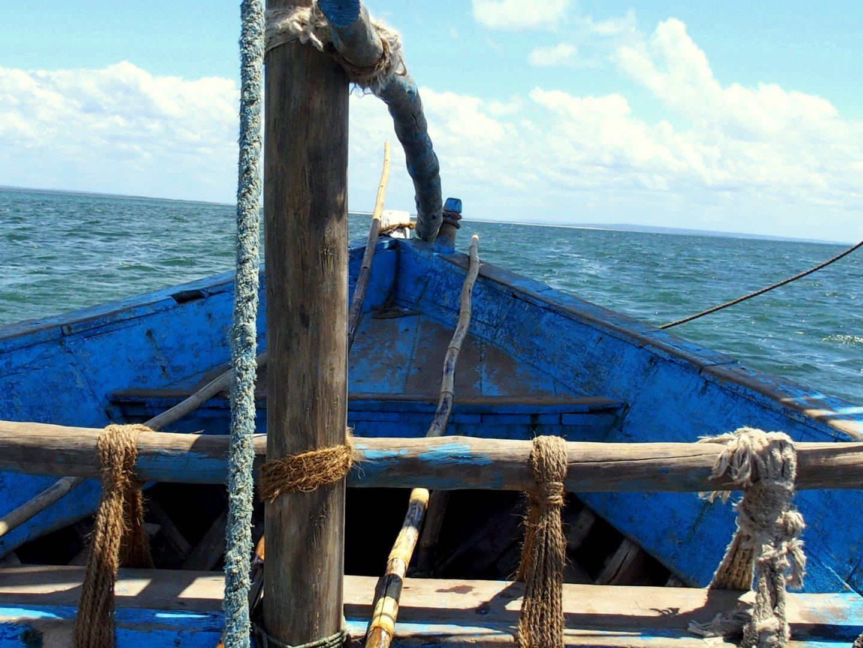 A bord d'un dhow Ibo - Mozambique