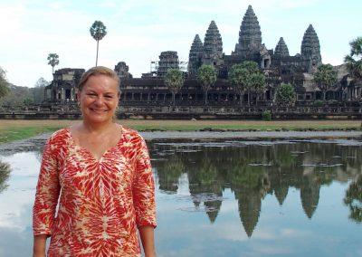 Devant Angkor Vat Cambodge