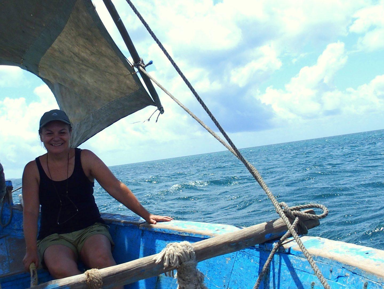 En mer sur un dhow Ibo - Mozambique