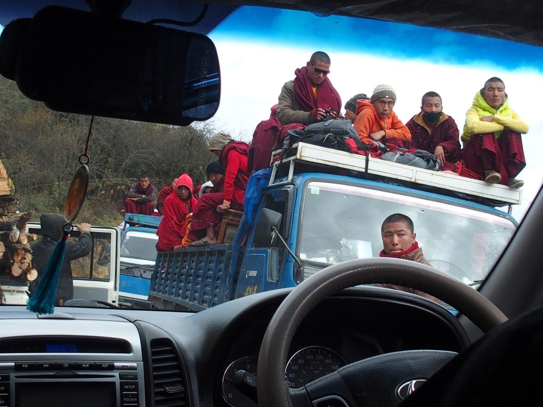 Attente sur la route Bhoutan