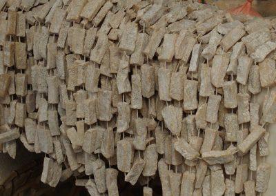 Chapelet graisse animale marché Timphu Bhoutan