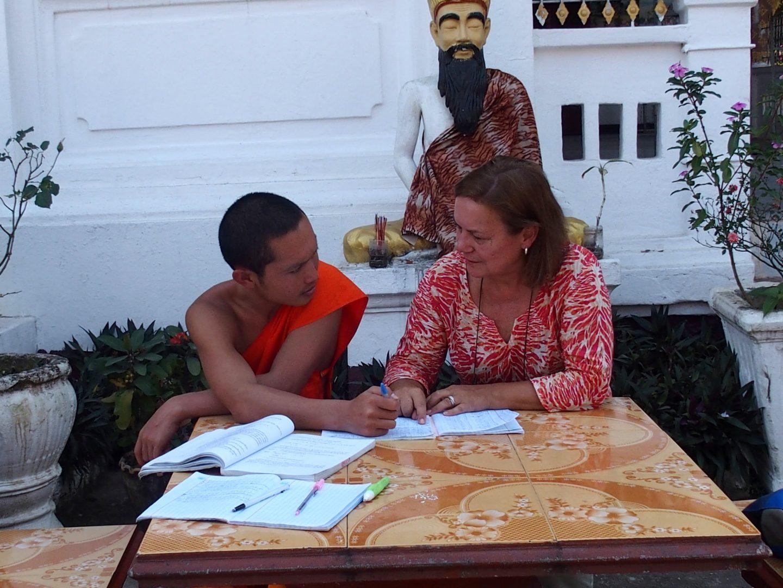 Cours de français au monastère Luang Prabang Laos
