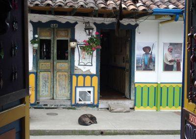 Dans les rues de Salento Colombie