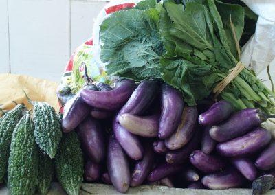 Divers légumes marché Timphu Bhoutan