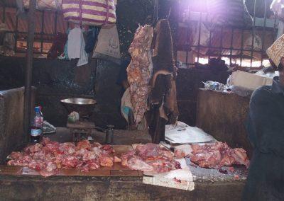 Echoppe boucherie marché Towstone Zanzibar Tanzanie