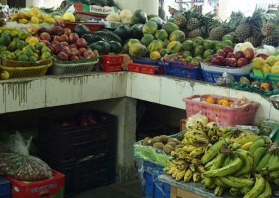 Echoppe fruits marché Timphu Bhoutan