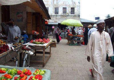 Echoppe marché Stone Town en Tanzanie
