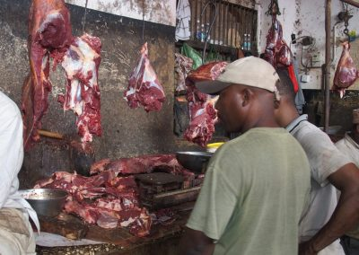 Echoppe viande marché Stone Town Zanzibar