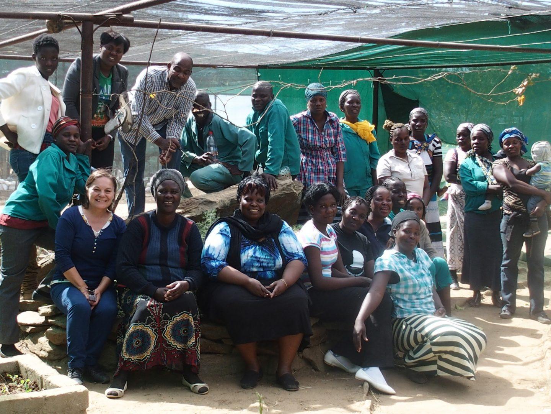 Equipe HISA dans le potager Namibie