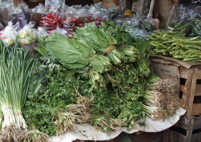 Etal herbes marché Bhoutan