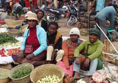 Famille de producteurs marché Malagache