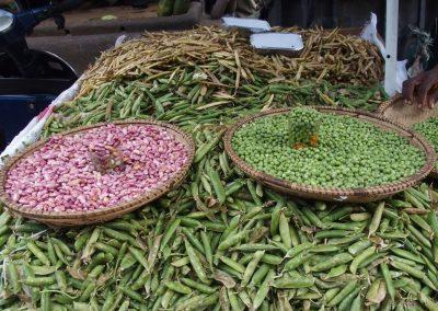 Haricots et petits pois marché Dar es Salaam Tanzanie