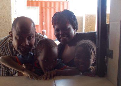 John, Patricia et enfants Katutura Namibie