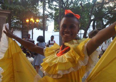 Jolie danseuse Carthagène Colombie