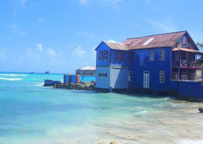 Maison bleue San Andres Colombie