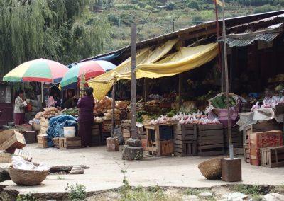 Marché campagne Bhoutan