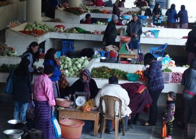 Organisation marché Timphu Bhoutan