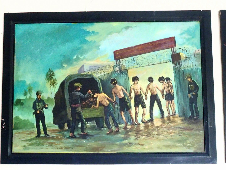 Peinture 1 Vann Nath au Musée génocide Phnom Penh Cambodge