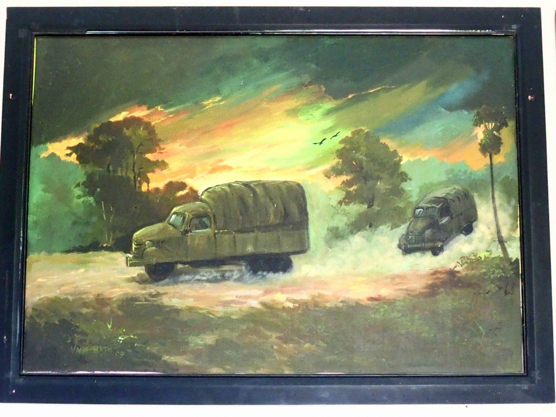 Peinture 2 Vann Nath au Musée génocide Phnom Penh Cambodge