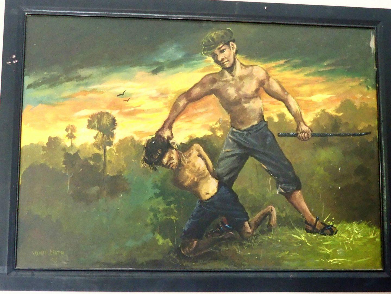 Peinture 3 Vann Nath au Musée génocide Phnom Penh Cambodge