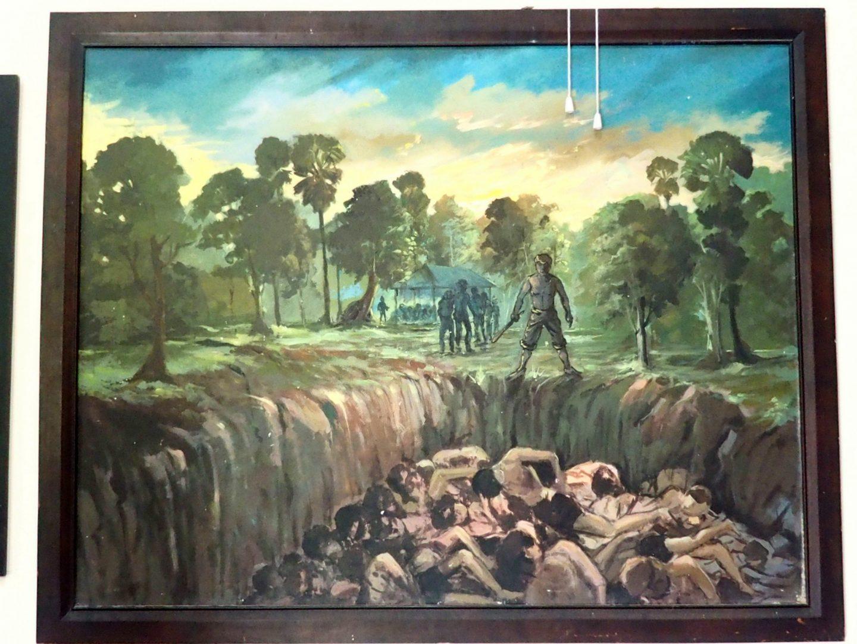 Peinture 4 Vann Nath au Musée génocide Phnom Penh Cambodge