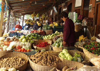 Petit marché Bhoutan