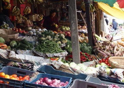 Petit marché local Bhoutan