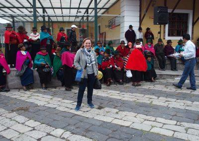 Place de la gare Guamote Carnet de voyage en Equateur
