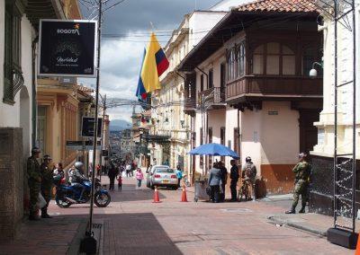 Présence policière Bogota Colombie